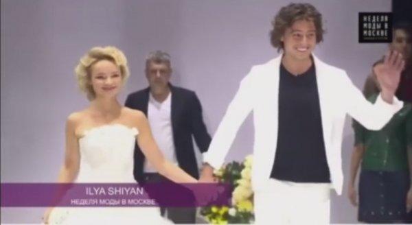 Прохор Шаляпин и Цимбалюк-Романовская дефилировали в свадебных нарядах