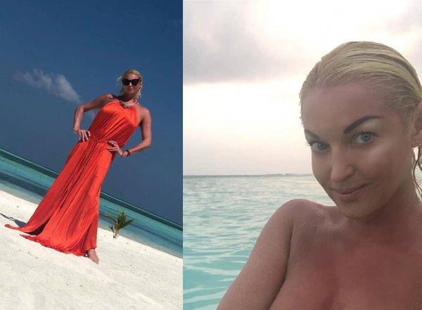 «Масленица на голове!»: Волочкова на Мальдивах окончательно себя забросила – фанаты