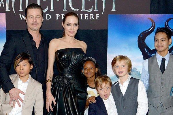 Анджелина Джоли считает, что её дети превращаются в Брэда Питта