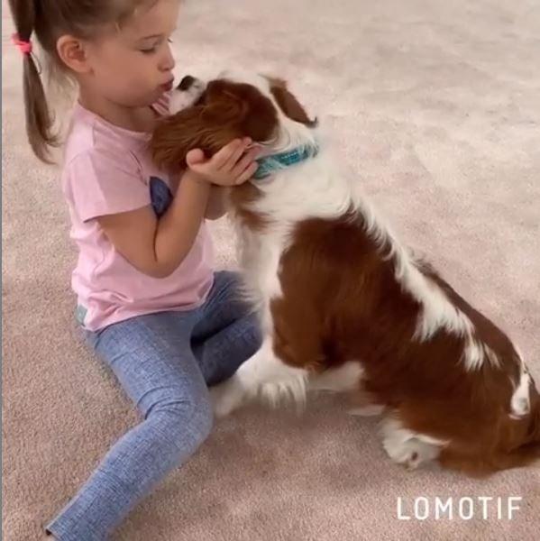 «Сначала яйки, потом к хозяйке»: Бородина позволяет собаке лизать лицо Теоны