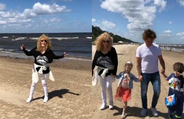 Плевком перешибить можно. Пугачёва еле удержалась на ногах на пляже