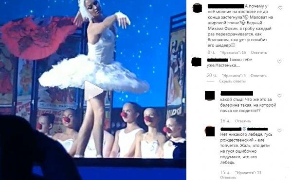 Конфуз «белого лебедя»: На Волочковой не сошлась пачка из-за лишнего веса