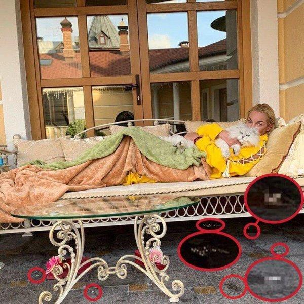 Кровь на ковре и загаженные стены: Волочкова встретила гостей в замызганном особняке