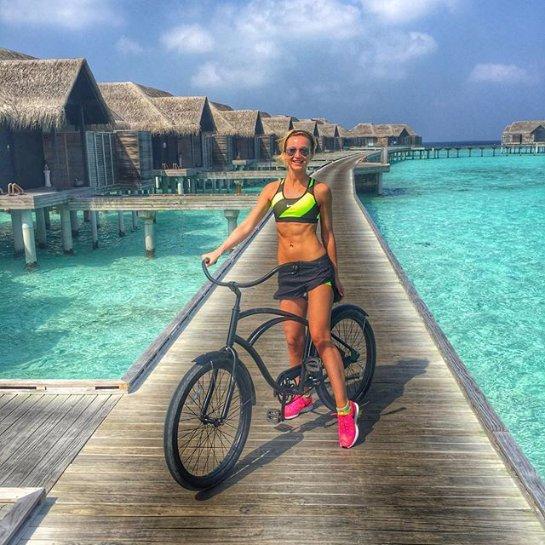 Ольга Бузова встретила Новый год на Мальдивах