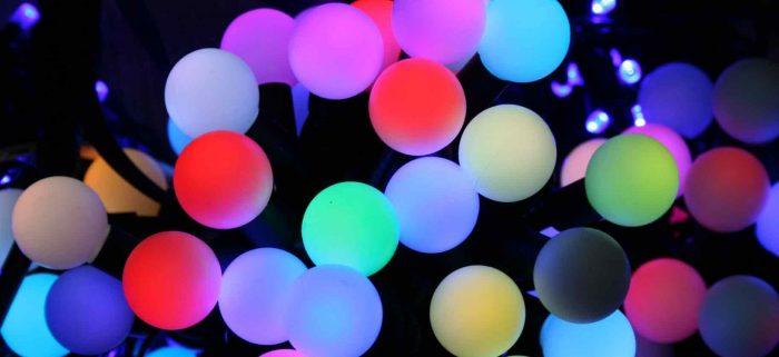 Светодиодные гирлянды шарики для праздничной атмосферы