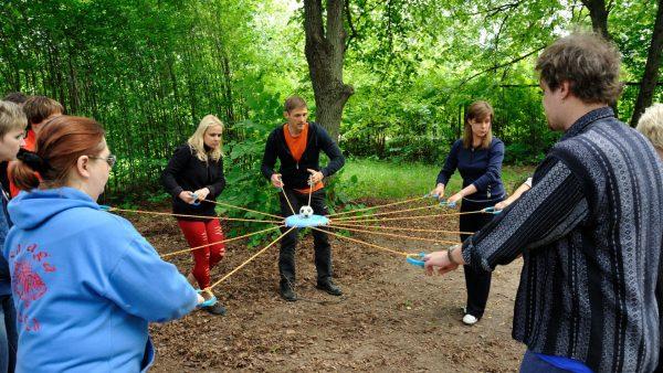 Тимбилдинг - веревочный курс