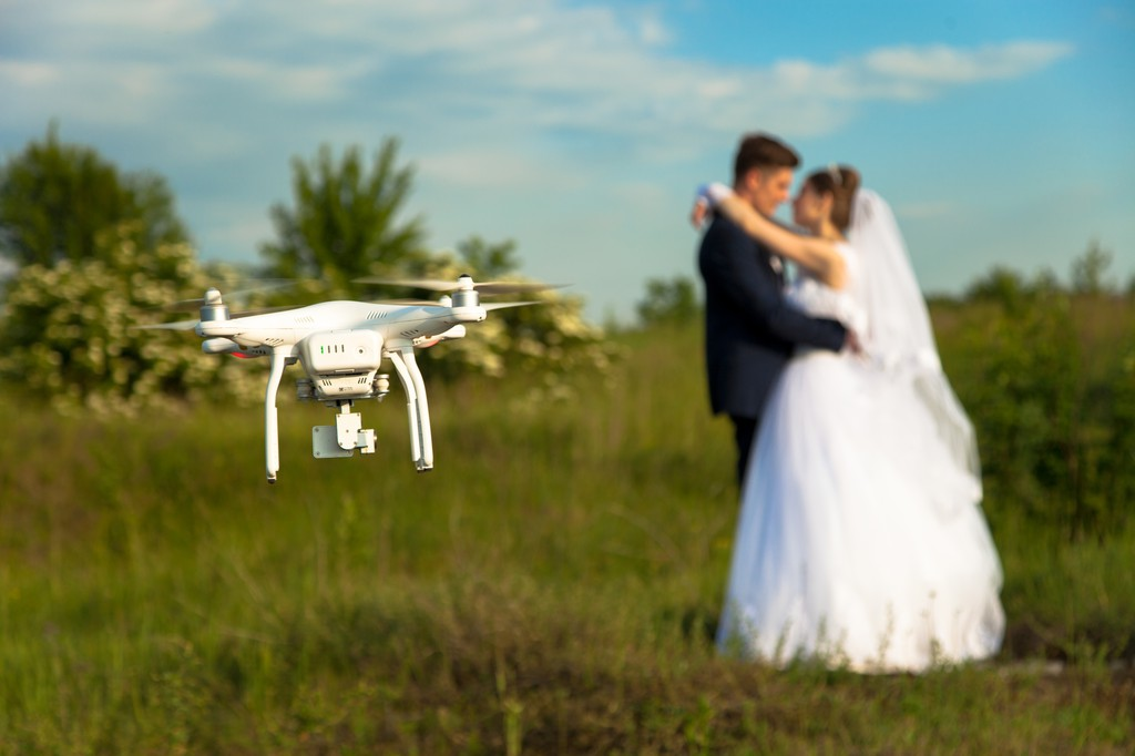 Где заказать съемку свадебного торжества с воздуха