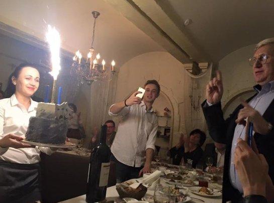 Ольга Сумская повеселилась на дне рождения Горянского
