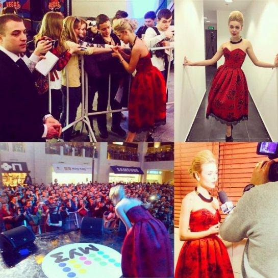Алина Гросу произвела фурор в красном наряде