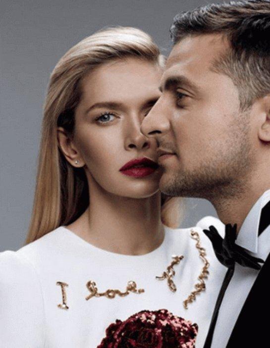 Вера Брежнева и Владимир Зеленский снялись в фотосессии для журнала Elle