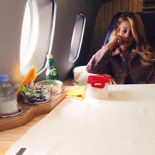 Тина Кароль показала фото из самолета