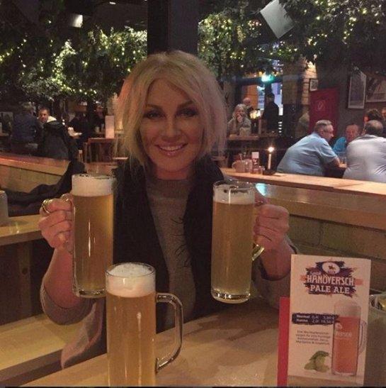 Таисия Повалий оказалась любительницей пива